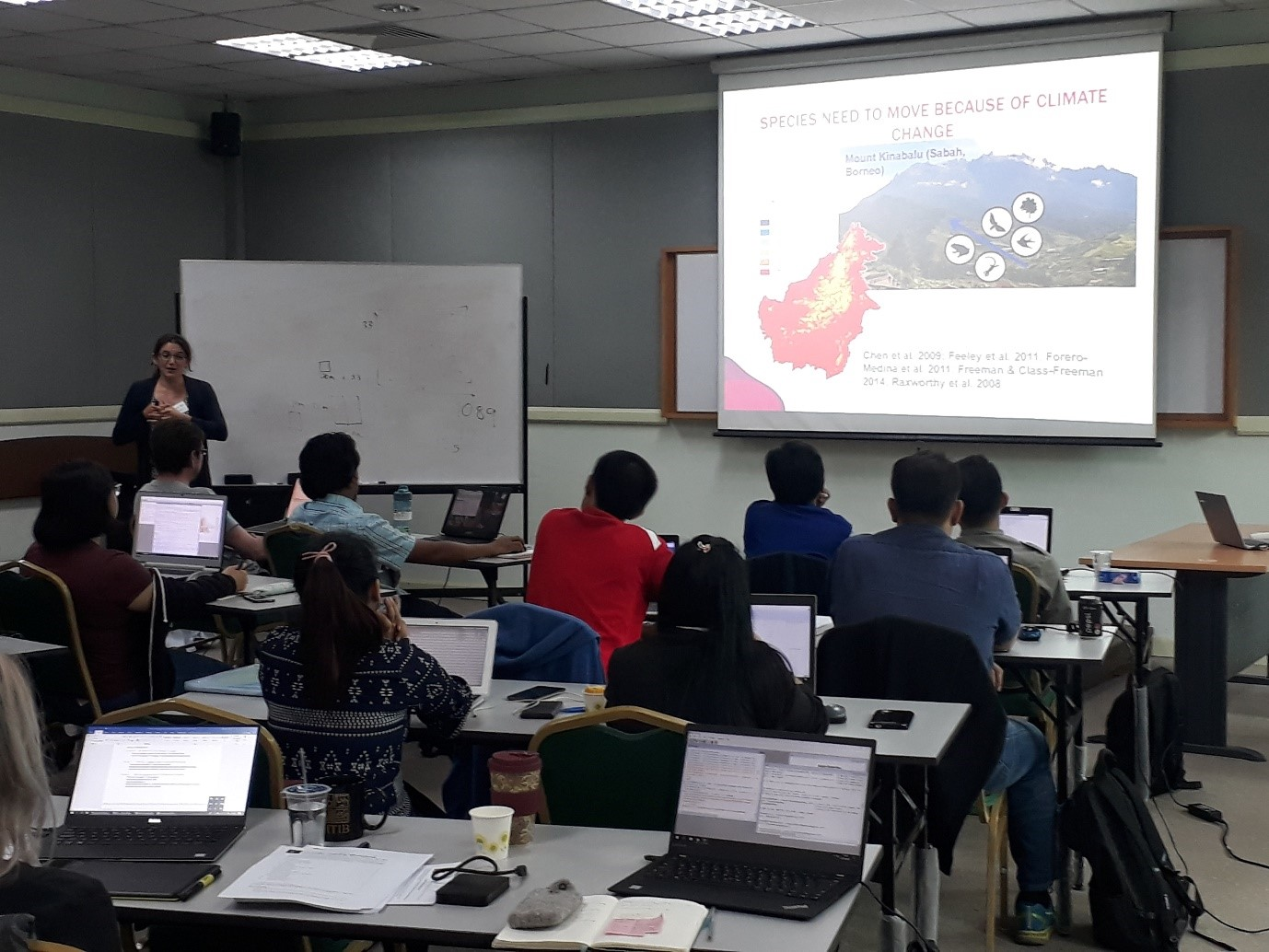 Jenny presenting the concepts of Condatis to the participants of our training workshop at Universiti Malaysia Sabah (UMS).